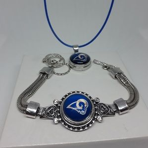 Jewelry - Los Angeles Rams Bracelet and Necklace set